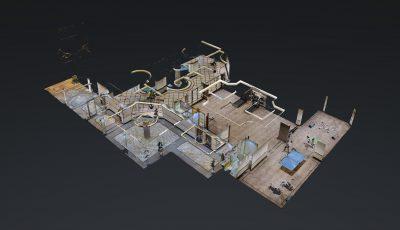 أبراج المنى بلازا – بهو البرج – جدة – شركة بصمة لإدارة العقارات 3D Model